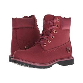 ティンバーランド Timberland レディース シューズ・靴 ブーツ【6 Premium Waterproof Boot】Burgundy Nubuck