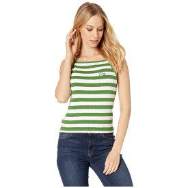 ジューシークチュール Juicy Couture レディース トップス タンクトップ【Awning Stripe Rib Tank】Pine Awning Stripe