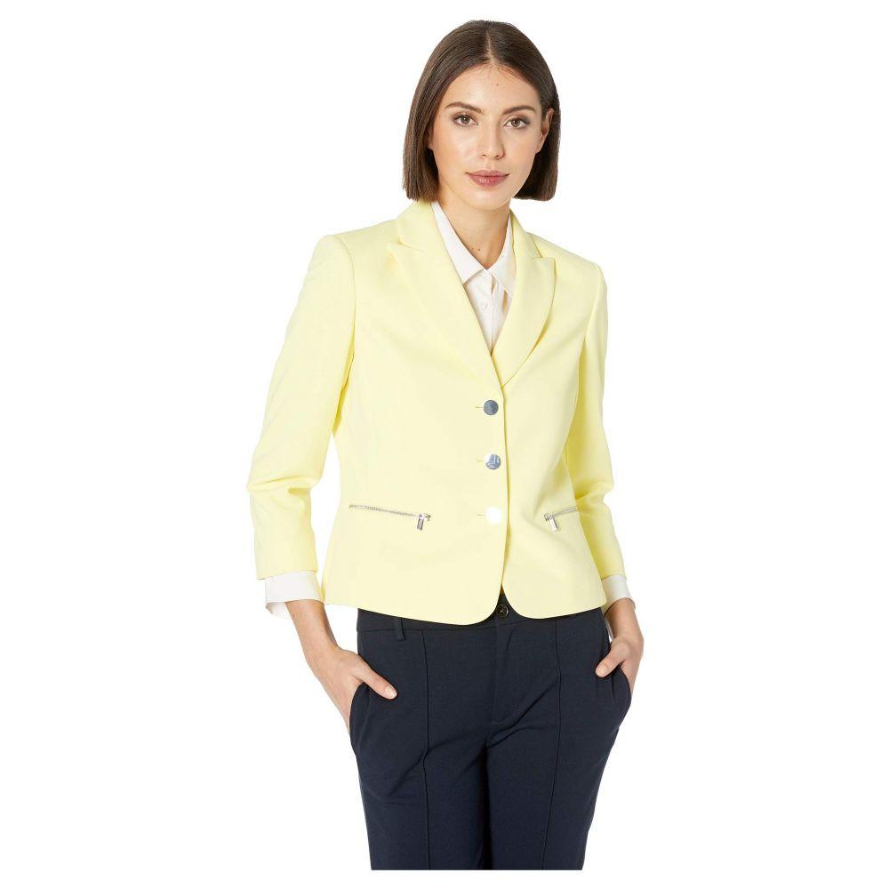 カルバンクライン Calvin Klein レディース アウター スーツ・ジャケット【Three-Button Zip Pocket Jacket】Zest