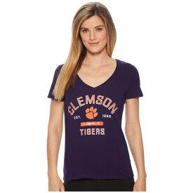 チャンピオン Champion College レディース トップス Tシャツ【Clemson Tigers University V-Neck Tee】Champion Purple