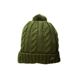 ナイキ Nike レディース 帽子 ニット【NSW Beanie】Olive Canvas/Metallic Silver