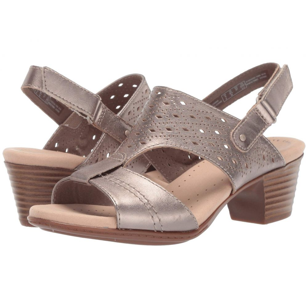 クラークス Clarks レディース シューズ・靴 サンダル・ミュール【Valarie Mindi】Pewter Leather