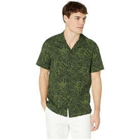 ジェイクルー J.Crew メンズ トップス 半袖シャツ【Short Sleeve Printed Seersucker Playful Leaves】Forest