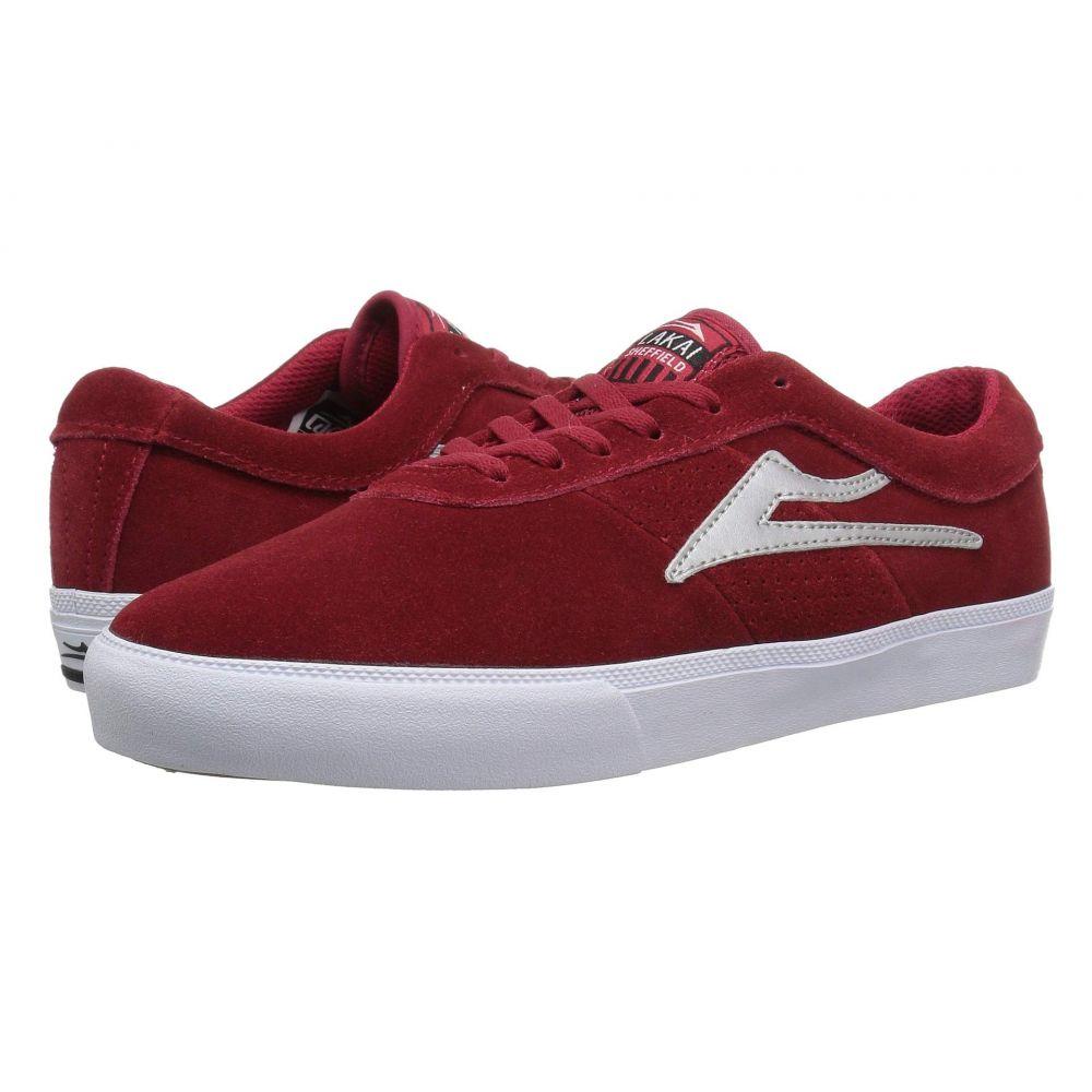 ラカイ Lakai メンズ シューズ・靴【Sheffield】Red/Silver Suede