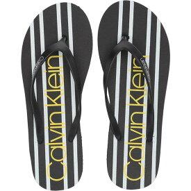 カルバンクライン Calvin Klein レディース シューズ・靴 ビーチサンダル【Salese】Black Stripe