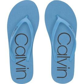 カルバンクライン Calvin Klein レディース シューズ・靴 ビーチサンダル【Salma】Dusty Blue/Black