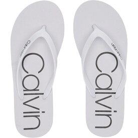 カルバンクライン Calvin Klein レディース シューズ・靴 ビーチサンダル【Salma】White/Black