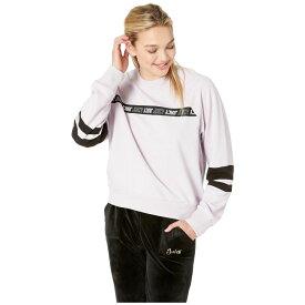 ジューシークチュール Juicy Couture レディース トップス【Juicy Repeat Stripe Logo Pullover】Lavender Fog