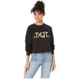 ジューシークチュール Juicy Couture レディース トップス【JXJC Gold Foil Logo Pullover】Pitch Black