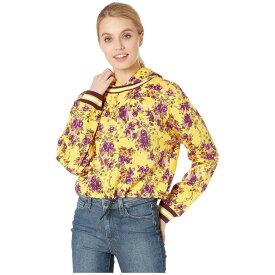 ジューシークチュール Juicy Couture レディース トップス パーカー【Etched Floral Cinched Pullover with Hood】Etched Floral/Soft