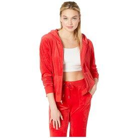 ジューシークチュール Juicy Couture レディース トップス パーカー【Sequin Logo Hoodie】True Red