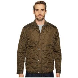 コールハーン Cole Haan メンズ アウター ジャケット【Transitional Quilted Nylon Jacket with Rib Knit Collar】Olive