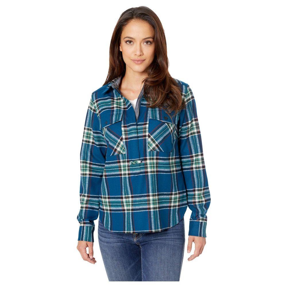 ペンドルトン Pendleton レディース トップス ブラウス・シャツ【Paige 1/2 Zip Popover Shirt】Turquoise Multi Plaid