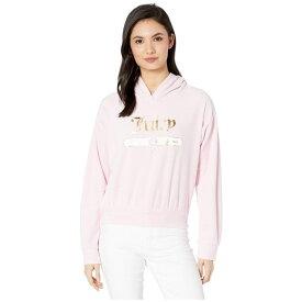 ジューシークチュール Juicy Couture レディース トップス パーカー【Juicy Emblem Velour Logo Hooded Pullover】Pink Lady