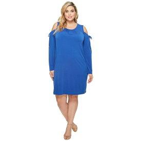 マイケル コース MICHAEL Michael Kors レディース ワンピース・ドレス ワンピース【Plus Size Solid Matte Jersey Cold Shoulder Dress】Bright Royal