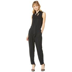 ラルフ ローレン LAUREN Ralph Lauren レディース ワンピース・ドレス オールインワン【Tie Neck Jersey Jumpsuit】Polo Black