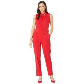 ラルフ ローレン LAUREN Ralph Lauren レディース ワンピース・ドレス オールインワン【Tie Neck Jersey Jumpsuit】Lacquer Red