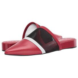 カルバンクライン Calvin Klein レディース シューズ・靴 ローファー・オックスフォード【Cardy】Scarlet/Black/White Mesh/Nappa Smooth