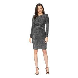 マイケル コース MICHAEL Michael Kors レディース ワンピース・ドレス ワンピース【Twist Waist Long Sleeve Dress】Black/Silver