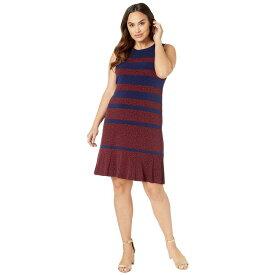 マイケル コース MICHAEL Michael Kors レディース ワンピース・ドレス ワンピース【Plus Size Paisley Panelled Sleeveless Dress】True Navy/Scarlet