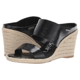 カルバンクライン Calvin Klein レディース シューズ・靴 サンダル・ミュール【Brooke】Black Varnished Crackle