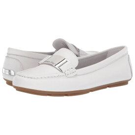 カルバンクライン Calvin Klein レディース シューズ・靴 ローファー・オックスフォード【Lisette】White Tumbled Pascal