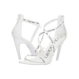 カルバンクライン Calvin Klein レディース シューズ・靴 サンダル・ミュール【Gennovah】White/White Logo Webbing Cow Silk