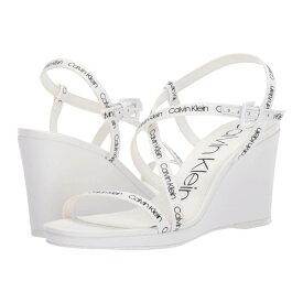 カルバンクライン Calvin Klein レディース シューズ・靴 サンダル・ミュール【Bellemine】White Logo Webbing