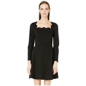ケイト スペード Kate Spade New York レディース ワンピース・ドレス ワンピース【Scallop Ponte Dress】Black
