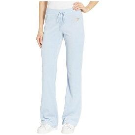 ジューシークチュール Juicy Couture レディース ボトムス・パンツ【Juicy Love Velour Logo Del Rey Pants】Icy Blue