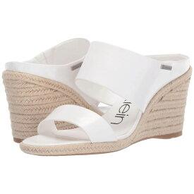 カルバンクライン Calvin Klein レディース シューズ・靴 サンダル・ミュール【Brooke】White Varnished Crackle