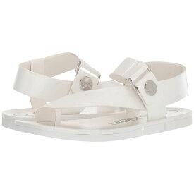 カルバンクライン Calvin Klein レディース シューズ・靴 サンダル・ミュール【Rikki】White Varnished Crackle