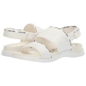 カルバンクライン Calvin Klein レディース シューズ・靴 サンダル・ミュール【Uno】White Logo Webbing/Lycra