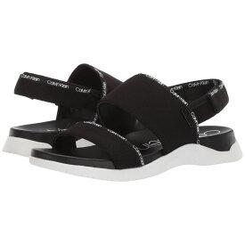 カルバンクライン Calvin Klein レディース シューズ・靴 サンダル・ミュール【Uno】Black Logo Webbing/Lycra