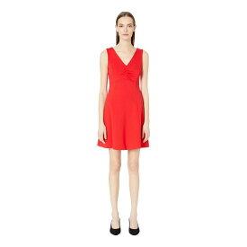 ケイト スペード Kate Spade New York レディース ワンピース・ドレス ワンピース【Broome Street V-Neck Ponte Dress】Engine Red