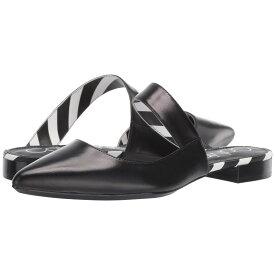 カルバンクライン Calvin Klein レディース シューズ・靴 スリッポン・フラット【Arelys】Black Leather/Stripes