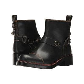 コーチ COACH レディース シューズ・靴 ブーツ【Moto Bootie】Black Leather