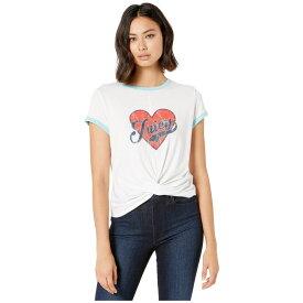 ジューシークチュール Juicy Couture レディース トップス Tシャツ【Juicy Heart Graphic Twist Hem Tee】White