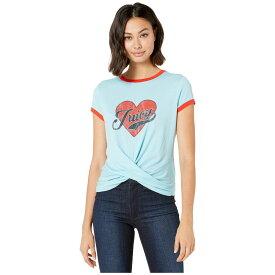 ジューシークチュール Juicy Couture レディース トップス Tシャツ【Juicy Heart Graphic Twist Hem Tee】Sky Line