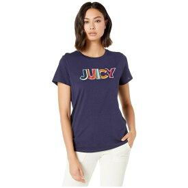 ジューシークチュール Juicy Couture レディース トップス Tシャツ【Summer Juicy Graphic Classic Short Sleeve Tee】Starless Sky