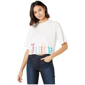 ジューシークチュール Juicy Couture レディース トップス Tシャツ【Gothic Juicy Track Logo Boxy Tee】White