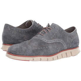 コールハーン Cole Haan メンズ シューズ・靴 革靴・ビジネスシューズ【Zerogrand Wingtip Oxford Leather】Denim Extra Grey Suede/Redwood/Brazilian Sand
