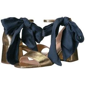 ジェイクルー J.Crew レディース シューズ・靴 サンダル・ミュール【Metallic Ankle Tie Penny Sandal w/ Dot Tie】Metallic Gold