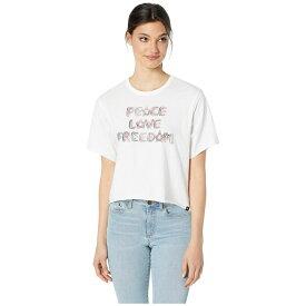 ハーレー Hurley レディース トップス ベアトップ・チューブトップ・クロップド【Love Freedom Crop Crew Short Sleeve】White