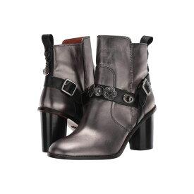 コーチ COACH レディース シューズ・靴 ブーツ【Moto Bootie Heel - Tea Rose Metallic】Gunmetal/Black