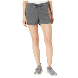 アディダス adidas レディース ボトムス・パンツ ショートパンツ【Essentials Linear Shorts】Dark Grey Heather/Semi Coral