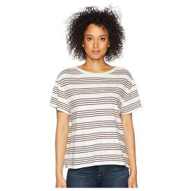 ペンドルトン Pendleton レディース トップス Tシャツ【Soft Stripe Cotton Tee】Marshmallow/Winetasting