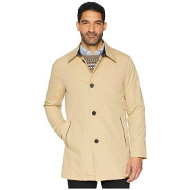 コールハーン Cole Haan メンズ レインコート アウター【City Rain Button Front Carcoat with Detachable Liner】Tan