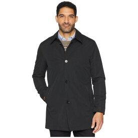 コールハーン Cole Haan メンズ レインコート アウター【City Rain Button Front Carcoat with Detachable Liner】Black