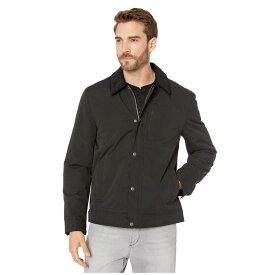 コールハーン Cole Haan メンズ レインコート アウター【City Rain Padded Barn Jacket with Corduroy Collar】Black